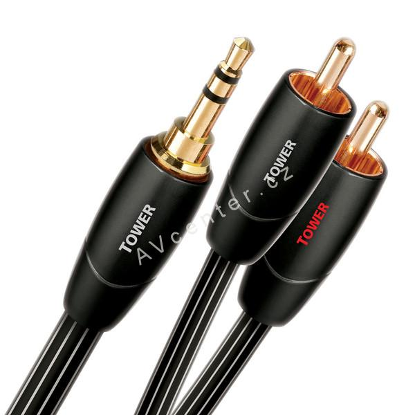 Stereo kabel Jack-2xCinch AudioQuest Tower - 1m