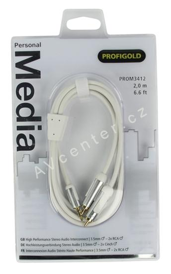 Profigold Personal Media kabel PROM3411 - Jack-2xCINCH, 1m