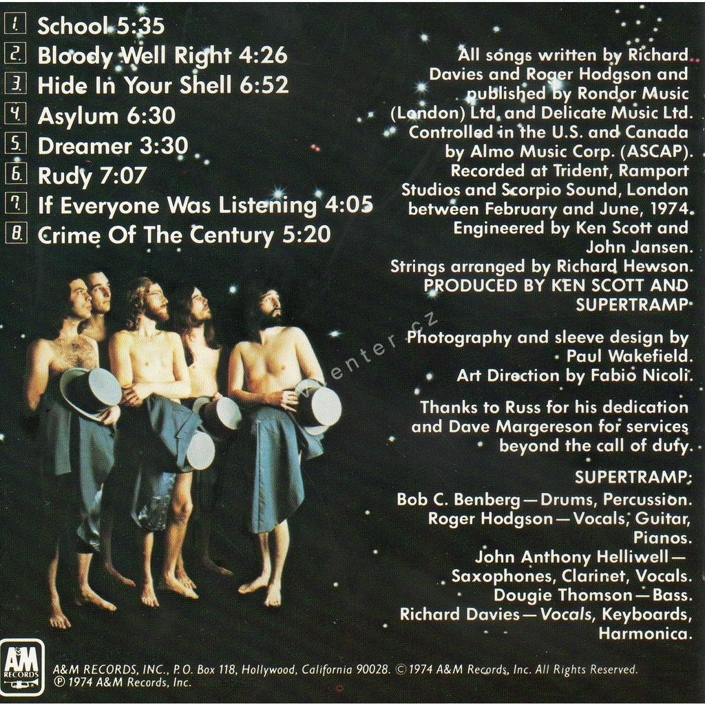 "Supertramp ""Crime of the Century"""