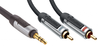 Profigold 3,5mm Jack- 2xCinch, stereo, 1m